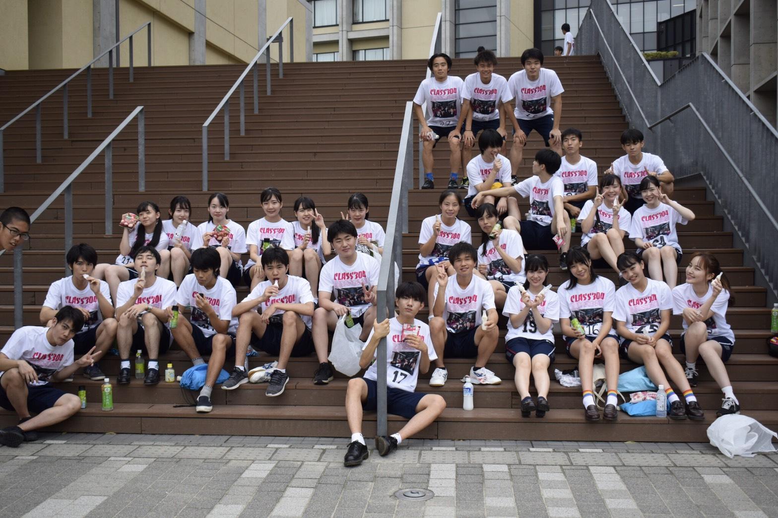高校生クラスTシャツ2019青山学院高等部(HR304)様(デカプリライト両面)