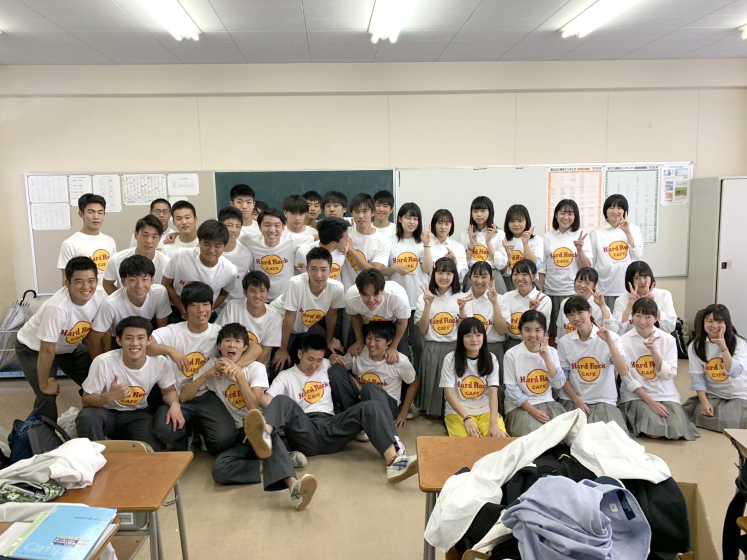 高校生クラスTシャツ2019東京成徳大学高等学校2年生グルメチーム様(転写)